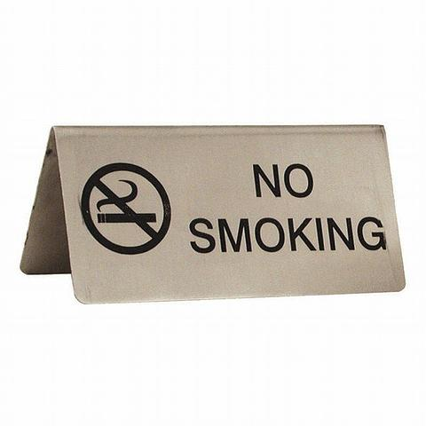 No Smoking Tent Table Sign