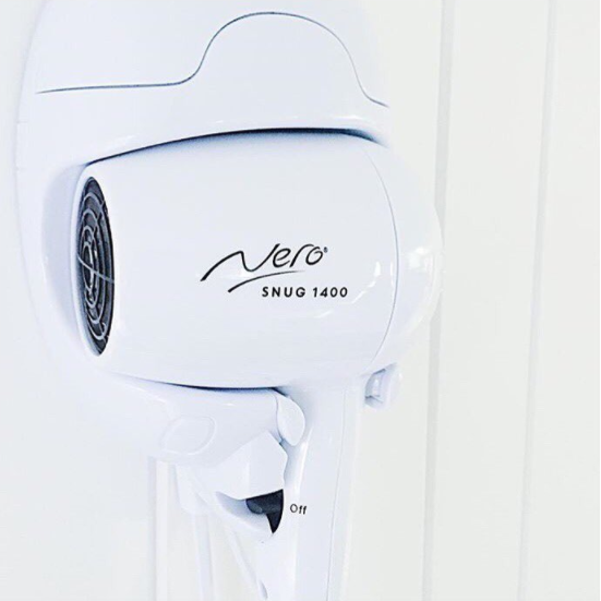 Nero Snug Wall Mounted Hairdryer