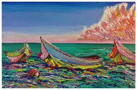 Artwork By S Thomas - Boats on the Water