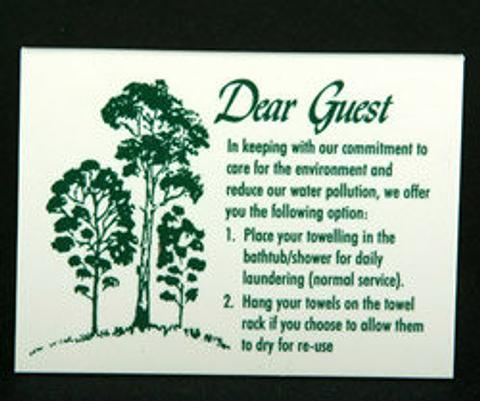 Environmental Sign - Acrylic tent style