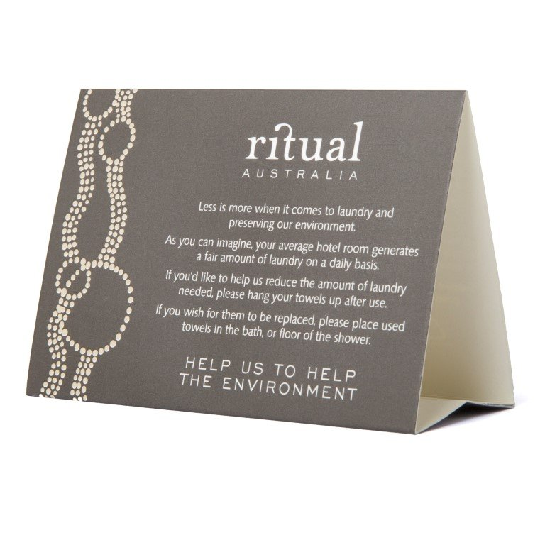 Ritual Australian Environmental Tent Card National Hotel