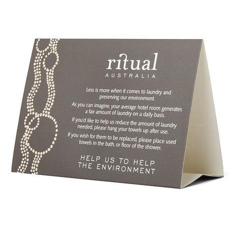 Ritual Australian Environmental Tent Card