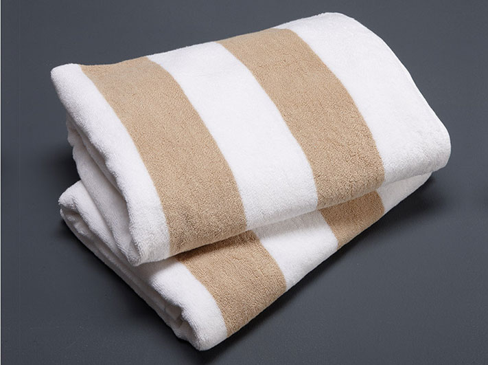 Pool Towel - Linen & White