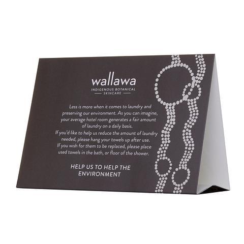 Wallawa Environmental Tent Card