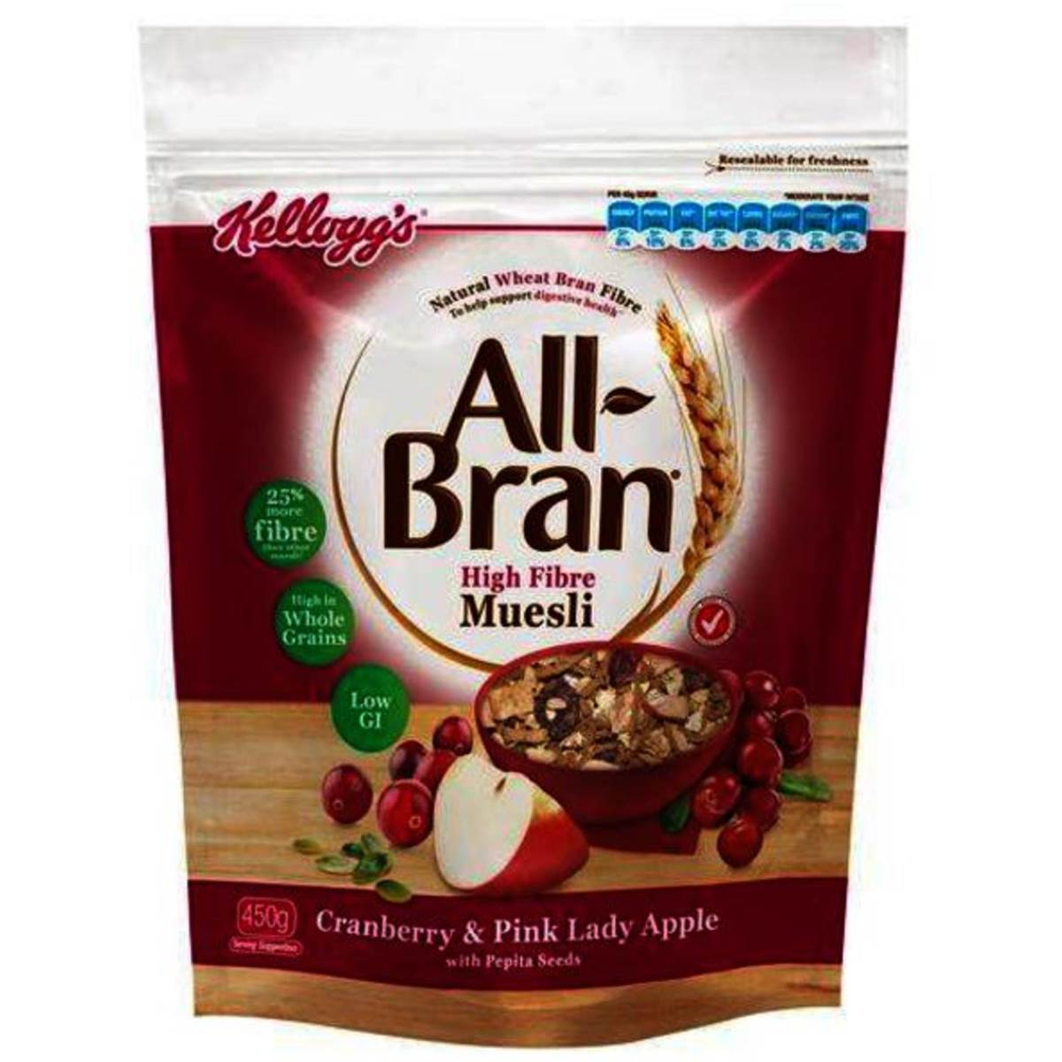 All-Bran Muesli Apple/Cranberry (10 x 40g)